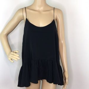 Club Monaco Black Strappy Blouse
